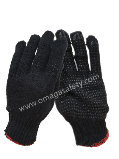 BLACK DOTTED BLACK KNITTED GLOVE CODE: KS-13