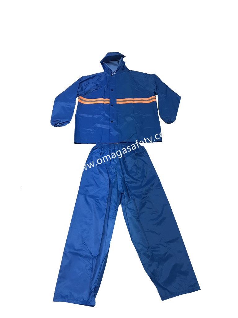 COLORED BLUE RAINCOAT PANTS AND JACKET CODE: MG-09