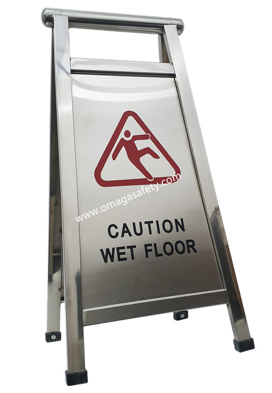 CAUTION WET FLOOR STAINLESS CODE: RS-07