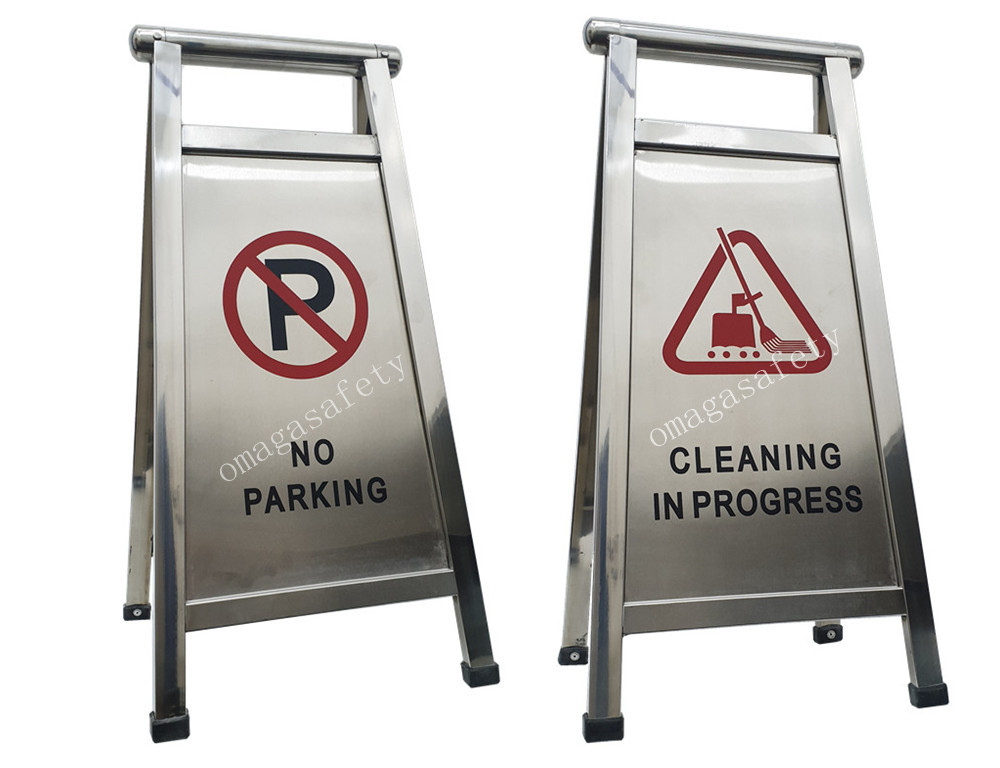 FLOOR SIGN STAINLESS CODE: RS-08