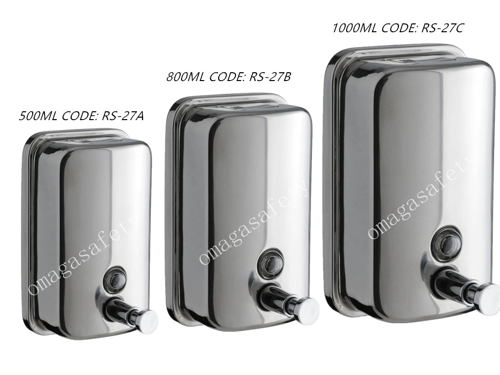 STAINESS SOAP DISPENSER CODE: RS-27 SERIES