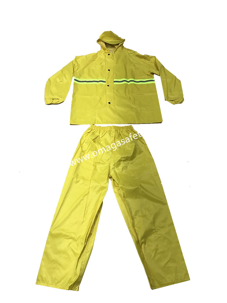 COLOR YELLOW RAIN COAT PANTS AND JACKET CODE: MG-06
